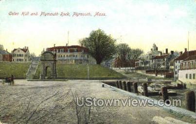 Coles Hill & Plymouth Rock - Massachusetts MA Postcard