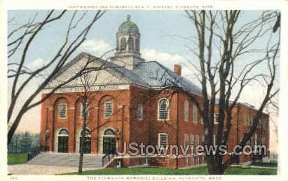 The Plymouth Memorial Building - Massachusetts MA Postcard