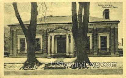 Public Library - Plymouth, Massachusetts MA Postcard