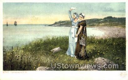 Two Farewells - Plymouth, Massachusetts MA Postcard
