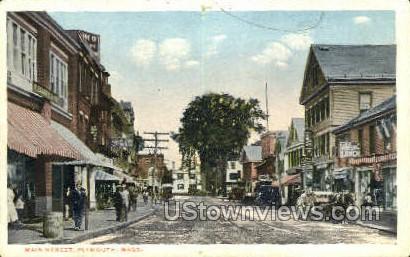 Main St. - Plymouth, Massachusetts MA Postcard