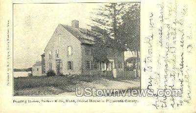 Fearing House, Parker Mills - Plymouth, Massachusetts MA Postcard