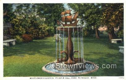 Pilgrim Hall Park - Plymouth, Massachusetts MA Postcard