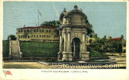 Plymouth Rock Monument - Massachusetts MA Postcard