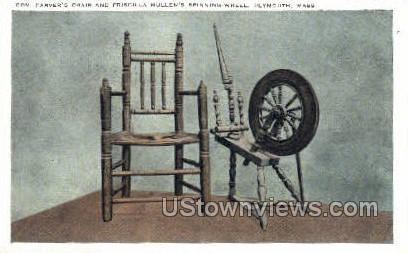Priscilla Mullen's Wheel - Plymouth, Massachusetts MA Postcard