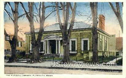 The Russell Library - Plymouth, Massachusetts MA Postcard