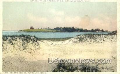 Clark's Island - Plymouth, Massachusetts MA Postcard