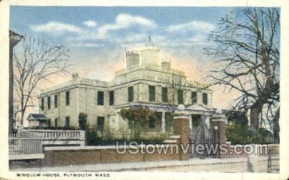 Winslow House - Plymouth, Massachusetts MA Postcard