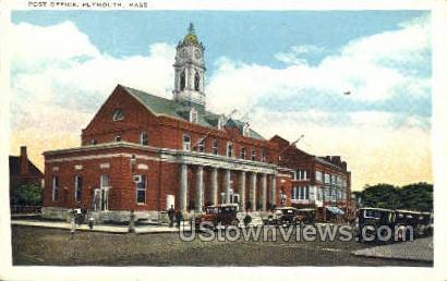 Post Office - Plymouth, Massachusetts MA Postcard