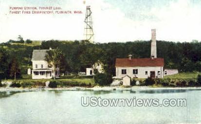 Pumping Station, Patuxet Lake - Plymouth, Massachusetts MA Postcard
