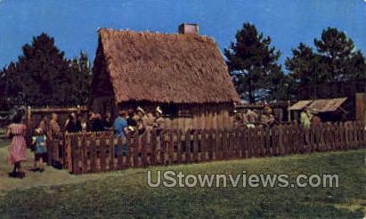 First House of Plimoth Plantation - Plymouth, Massachusetts MA Postcard