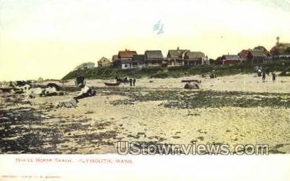 White Horse Beach - Plymouth, Massachusetts MA Postcard