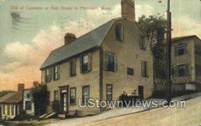 Site of the First or Common House - Plymouth, Massachusetts MA Postcard