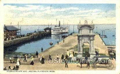 Pilgrim Wharf & Landing - Plymouth, Massachusetts MA Postcard
