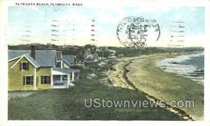 Plymouth Beach - Massachusetts MA Postcard