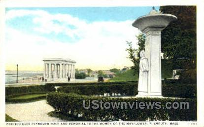Portico, Plymouth Rock - Massachusetts MA Postcard