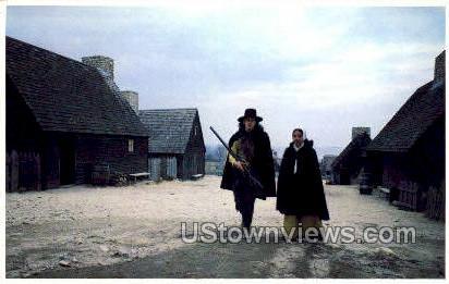 Pilgrim Man & Women - Plymouth, Massachusetts MA Postcard