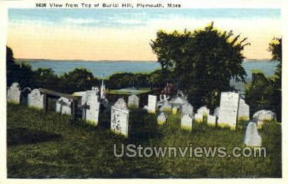 Top of Burial Hill - Plymouth, Massachusetts MA Postcard
