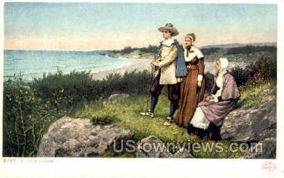Pilgrim Exiles - Plymouth, Massachusetts MA Postcard