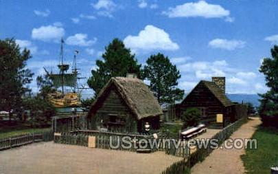 Replicas of Pilgrim Houses - Plymouth, Massachusetts MA Postcard