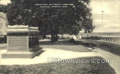 Sarcophagus, Coles Hill - Plymouth, Massachusetts MA Postcard