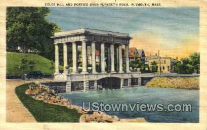 Plymouth Rock - Massachusetts MA Postcard