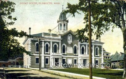 Court House - Plymouth, Massachusetts MA Postcard
