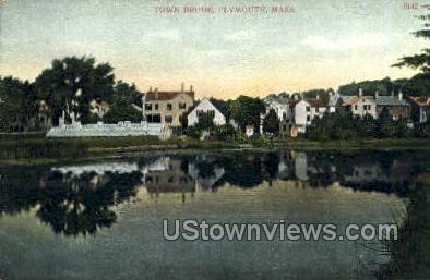 Town Brook - Plymouth, Massachusetts MA Postcard