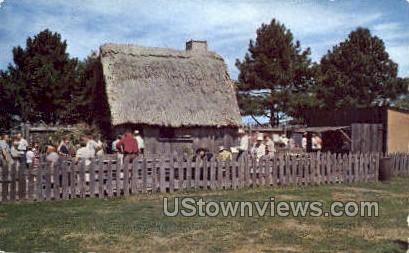 The First House - Plymouth, Massachusetts MA Postcard