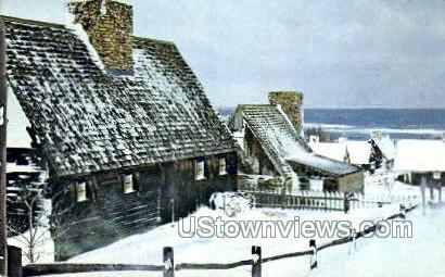 Winter - Plymouth, Massachusetts MA Postcard