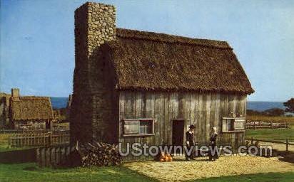 Guides in Pilgrim Costume - Plymouth, Massachusetts MA Postcard