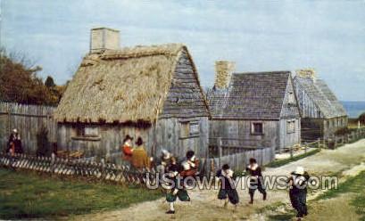 Children in Pilgrim Costume - Plymouth, Massachusetts MA Postcard