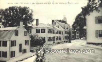 Leyden St. - Plymouth, Massachusetts MA Postcard