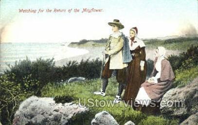 Return of the Mayflower - Plymouth, Massachusetts MA Postcard