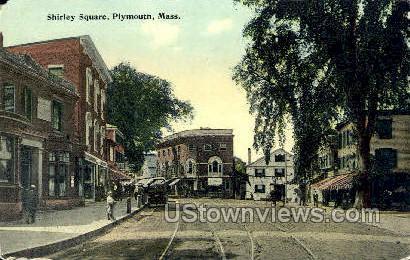 Shirley Square - Plymouth, Massachusetts MA Postcard