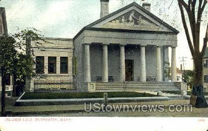 Pilgrim Hall - Plymouth, Massachusetts MA Postcard