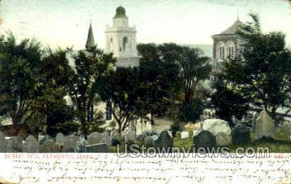 Burial Hill - Plymouth, Massachusetts MA Postcard
