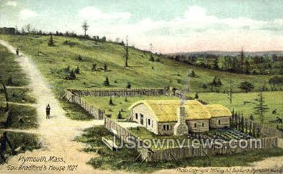 Gov. Bradford's House - Plymouth, Massachusetts MA Postcard