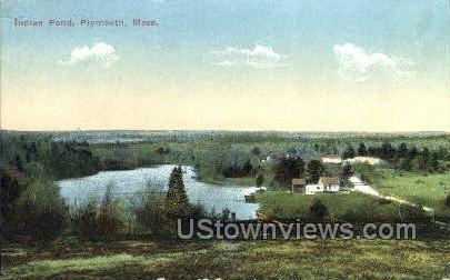 Indian Pond - Plymouth, Massachusetts MA Postcard