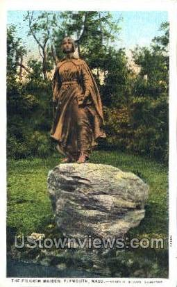 The Pilgrim Maiden - Plymouth, Massachusetts MA Postcard