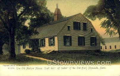 The Old Harlow House - Plymouth, Massachusetts MA Postcard
