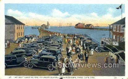 Boat Landing & Railroad Square - Provincetown, Massachusetts MA Postcard