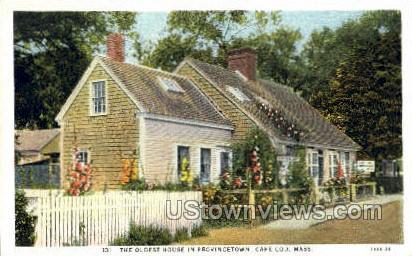 Oldest House - Provincetown, Massachusetts MA Postcard