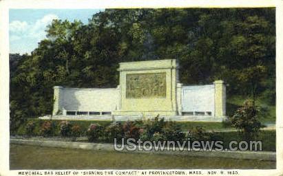 Memorial Bas Relief - Provincetown, Massachusetts MA Postcard