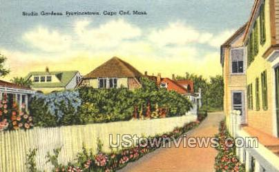 Studio Gardens - Provincetown, Massachusetts MA Postcard