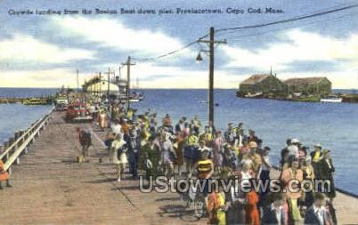Crowds Landing  - Provincetown, Massachusetts MA Postcard