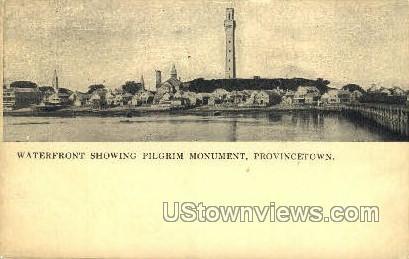 Waterfront - Provincetown, Massachusetts MA Postcard