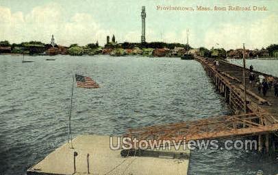 Railroad Dock - Provincetown, Massachusetts MA Postcard