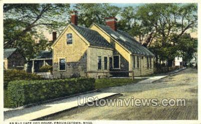 Old Cape Cod House - Provincetown, Massachusetts MA Postcard