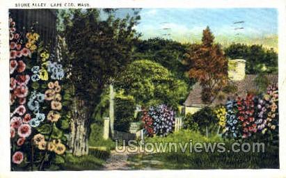 Stone Alley - Provincetown, Massachusetts MA Postcard